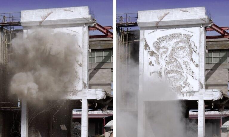 خلق آثار هنری با مواد منفجره! / عکس